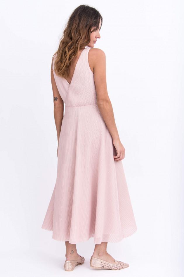 Harris Wharf London Elegantes Plisseekleid in Rose