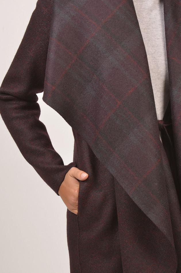 gr ner online shop harris wharf london mantel in gr n rot gemustert. Black Bedroom Furniture Sets. Home Design Ideas
