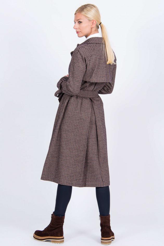 Harris Wharf London Doppelreihiger Mantel im Karo-Design