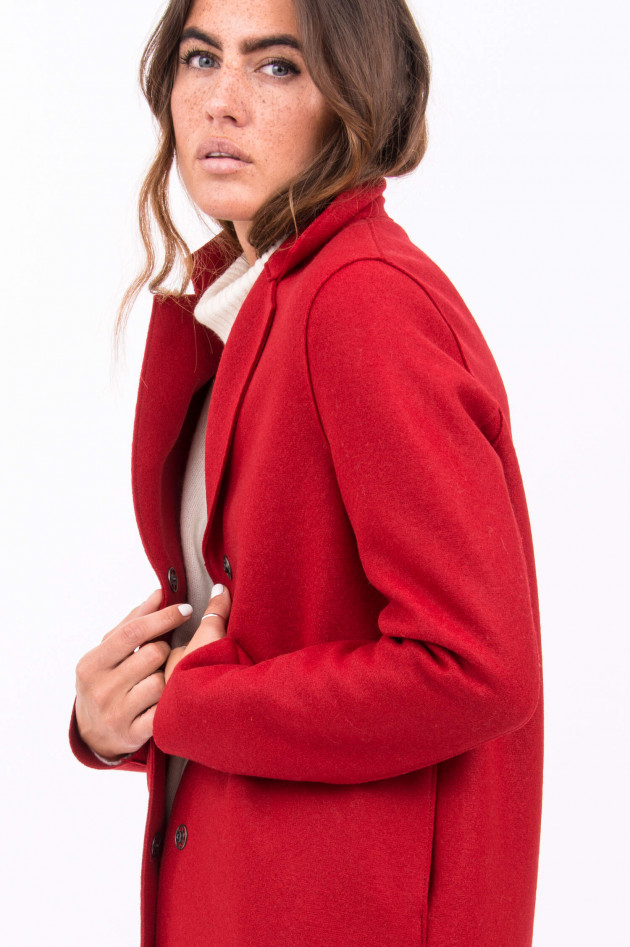 Harris Wharf London Mantel aus Schurwolle in Rot