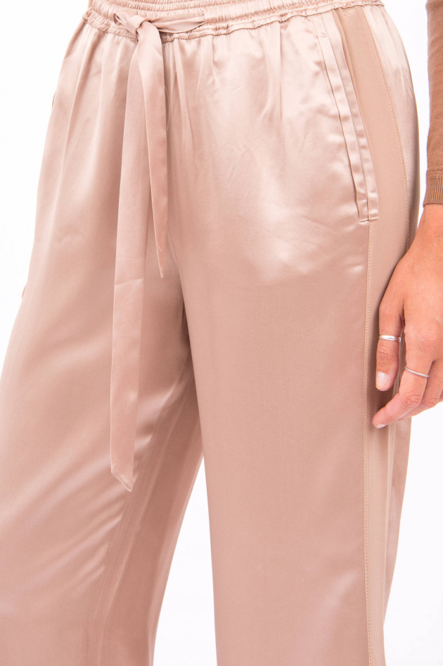 Hemisphere Weite Hose mit elastischem Bund in Rosé
