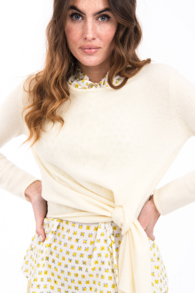 Hemisphere Pullover mit Bindeoption in Lemon