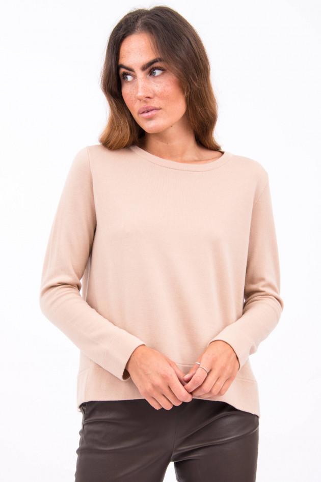 Hemisphere Pullover mit Ziernaht in Beige