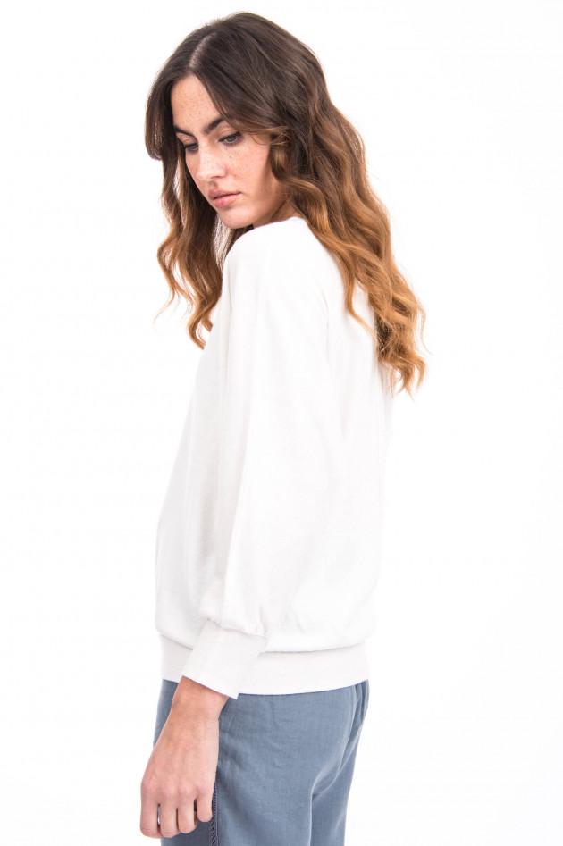 Hemisphere Pullover aus Kaschmir-Mix in Weiß
