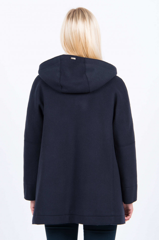Herno Wollmantel in Navy