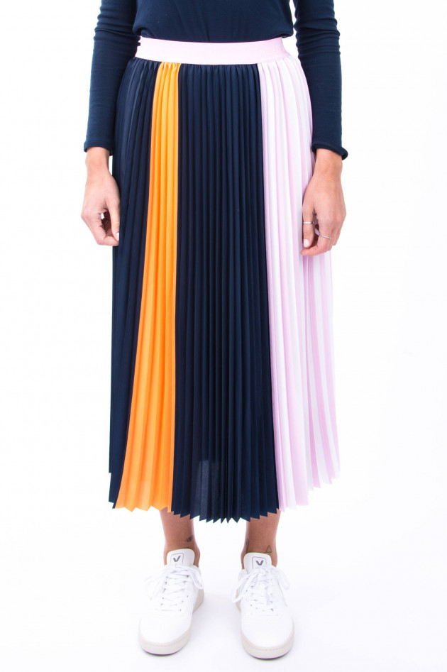 herzen´S angelegenheit Pliseerock mit Farbverlauf in Navy/Rosa/Orange