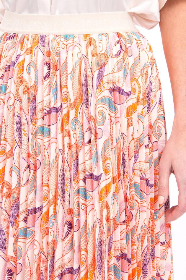 herzen´S angelegenheit Plisseerock im Paisley-Design in Rosa