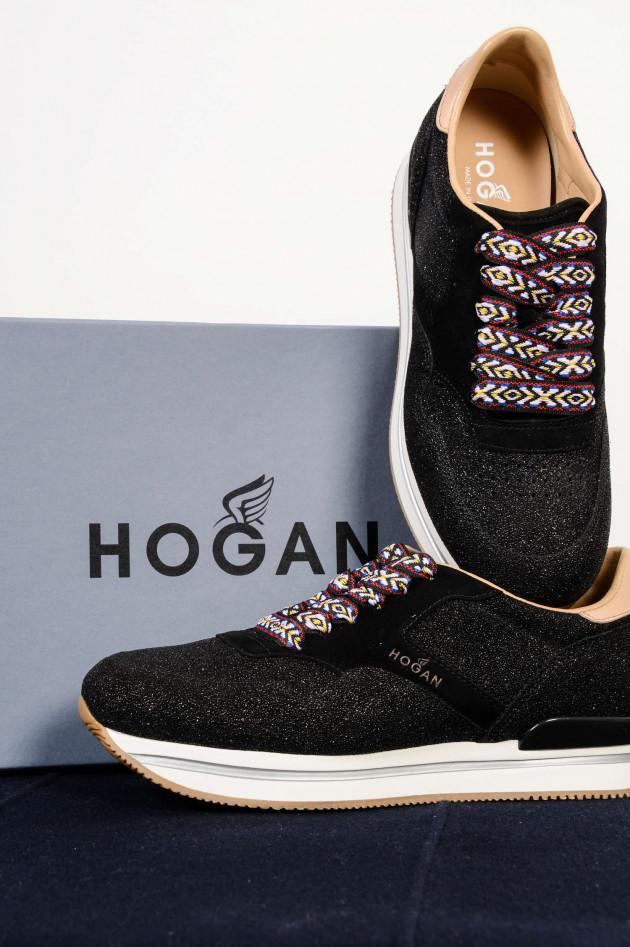 Hogan Sneakers SPORTIVO mit Glitzereffekt in Schwarz