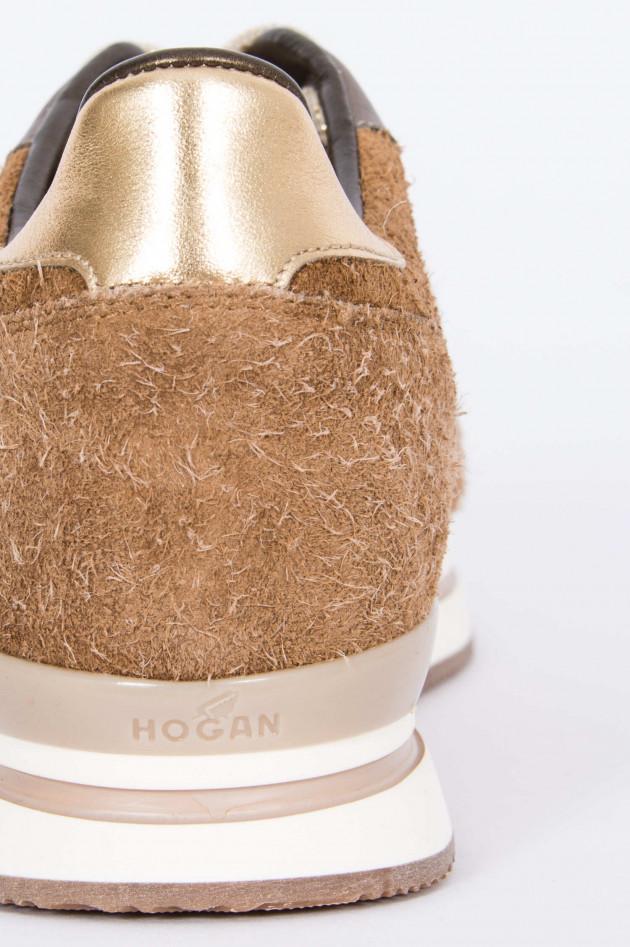 Hogan Sneaker SPORTIVO in Braun/Gold