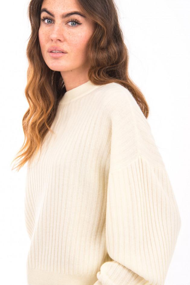 I Heart  Pullover aus Kaschmir-Mix in Pastellgelb