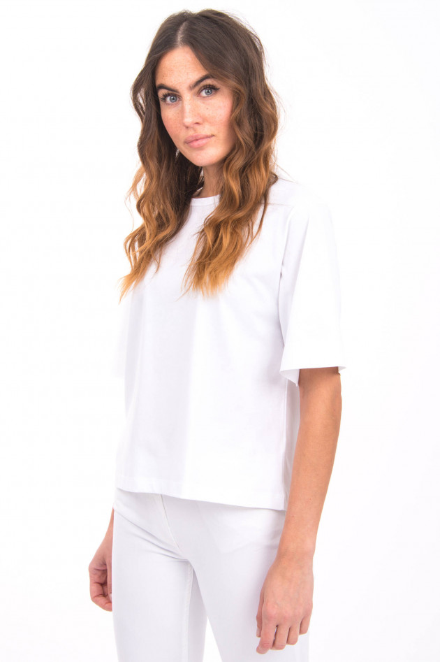 I Heart  T-Shirt mit weitem Kurzarm in Weiß