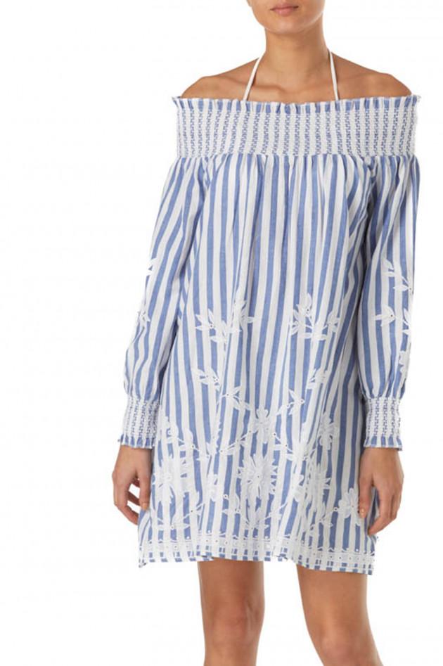Kleider blau weib gestreift