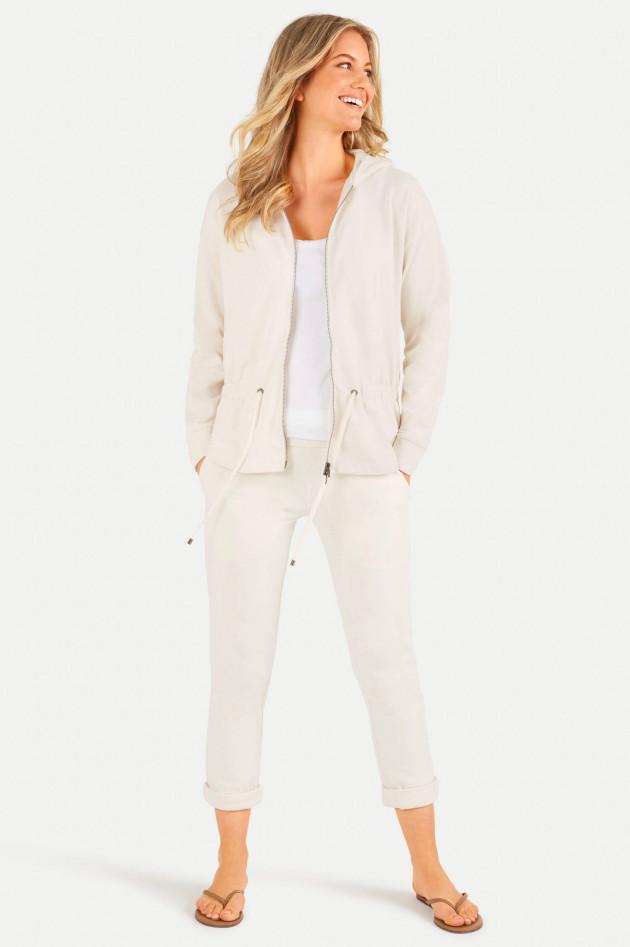Juvia Sweat-Jacke mit Kapuze in Creme