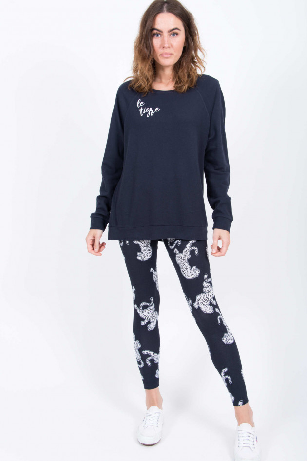 Juvia Leggings mit Tigerdruck in Navy