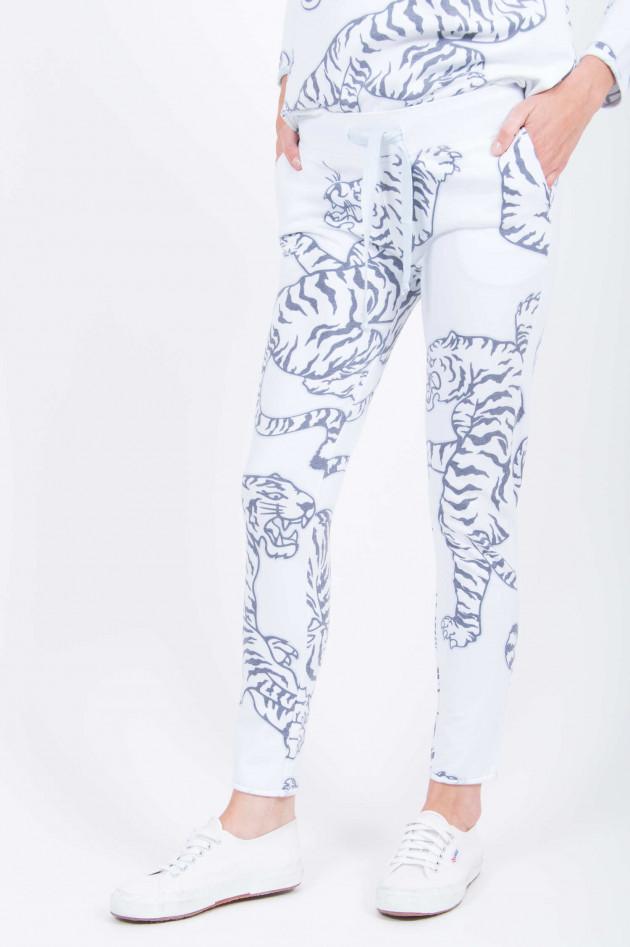 Juvia Sweatpants mit Tigerdruck in Weiß