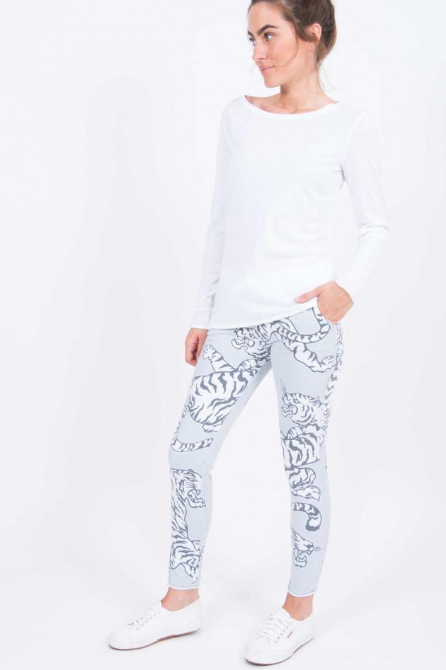Juvia Sweatpants mit Tigerdruck in Salbei