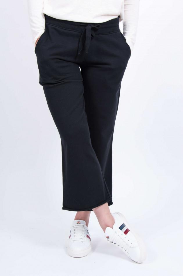Juvia Sweatpants mit weitem Bein in Schwarz