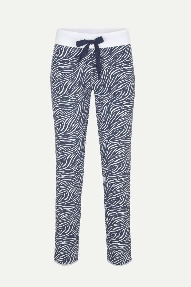 Juvia Sweatpants DESERT STRIPES in Blau/Weiß