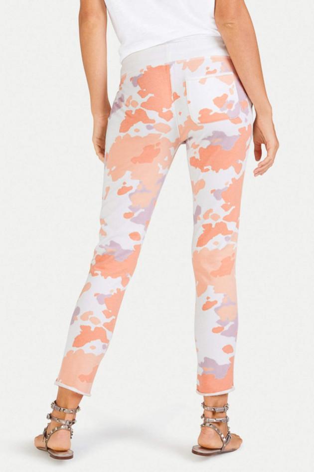 Juvia Sweatpants in Weiß/Mandarine/Lila