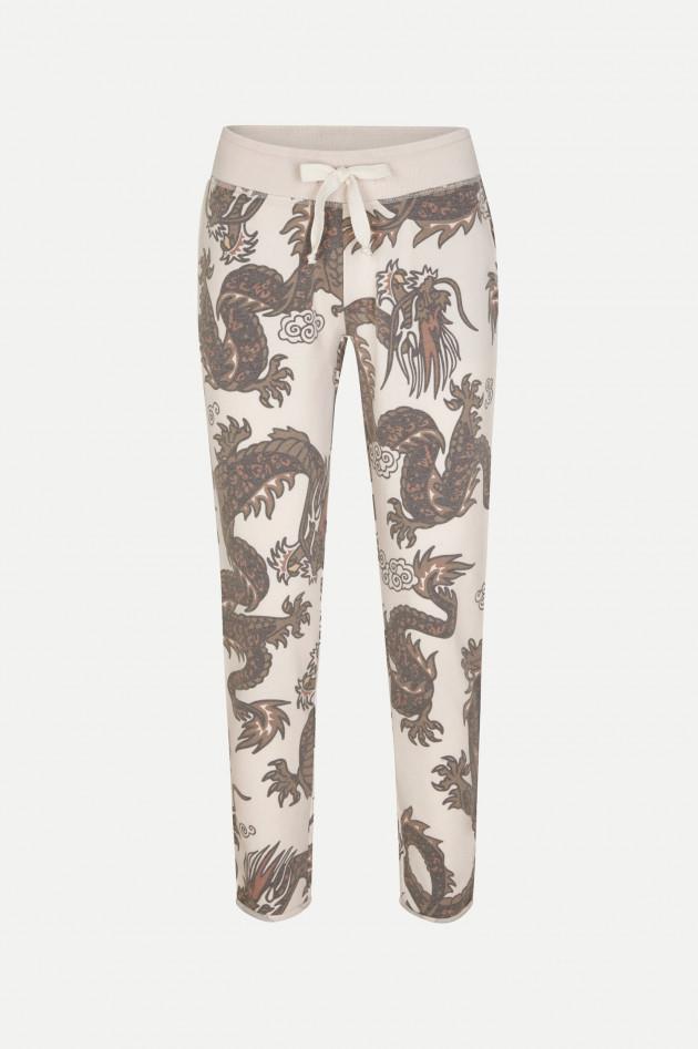 Juvia Sweatpants im Dragon-Design in Creme