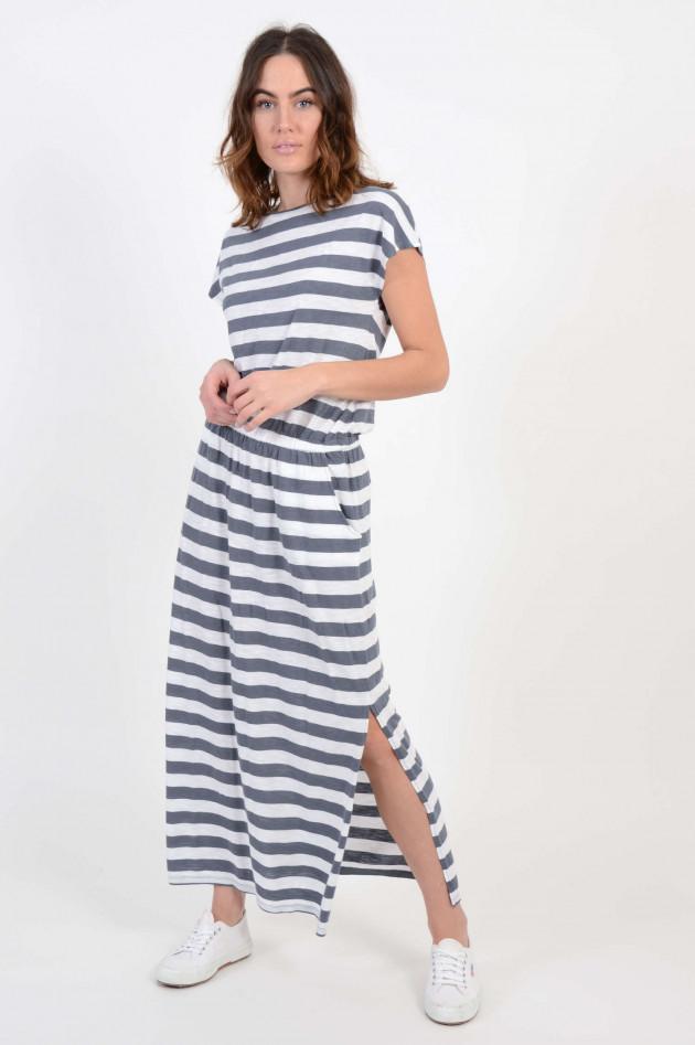 Juvia Kleid mit Streifenlook in Grau/Weiß | GRUENER.AT