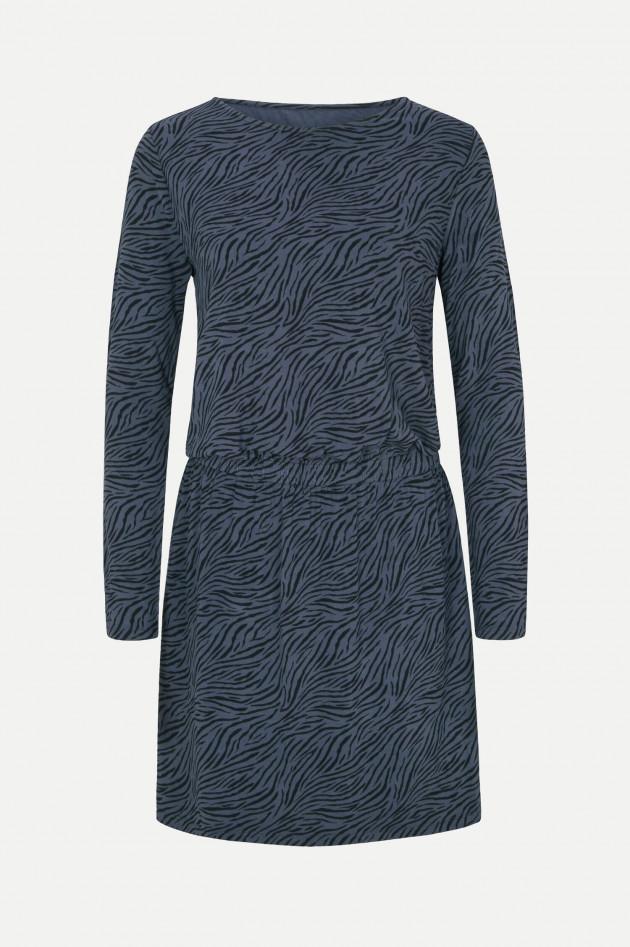 Juvia Viskosekleid DESERT STRIPES in Blau/Schwarz
