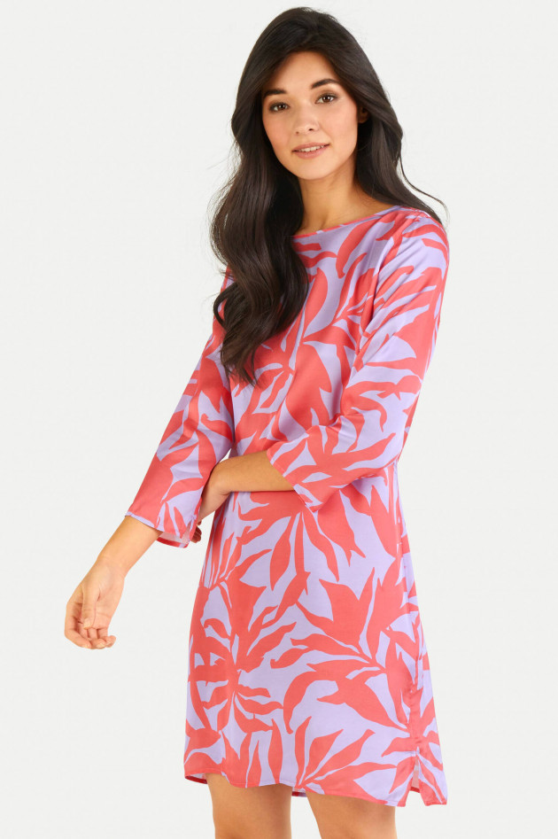 Juvia Kleid ABSTRACT LEAVES in Koralle/Lila