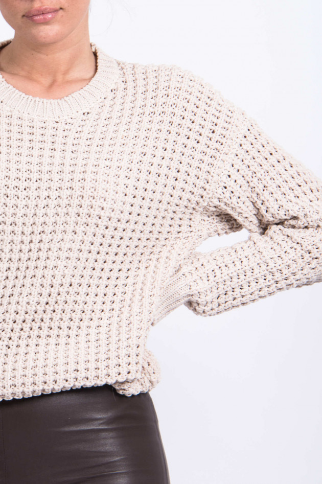 Juvia Strickpullover aus Baumwoll-Mix in Sand
