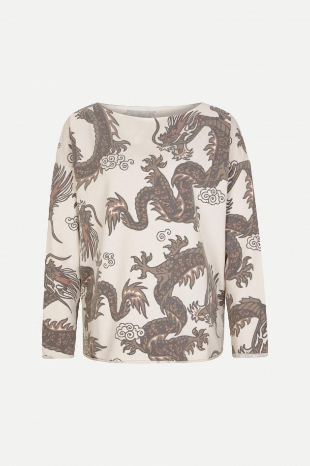 Juvia Sweater mit Dragon-Design in Creme