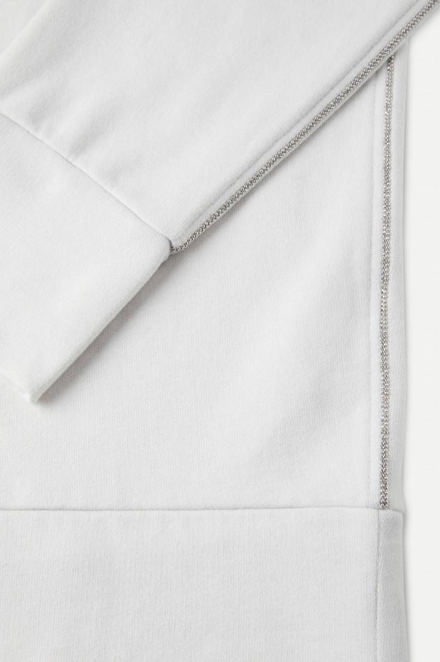 Juvia Sweater mit Schmuckstein-Details in Hellgrau
