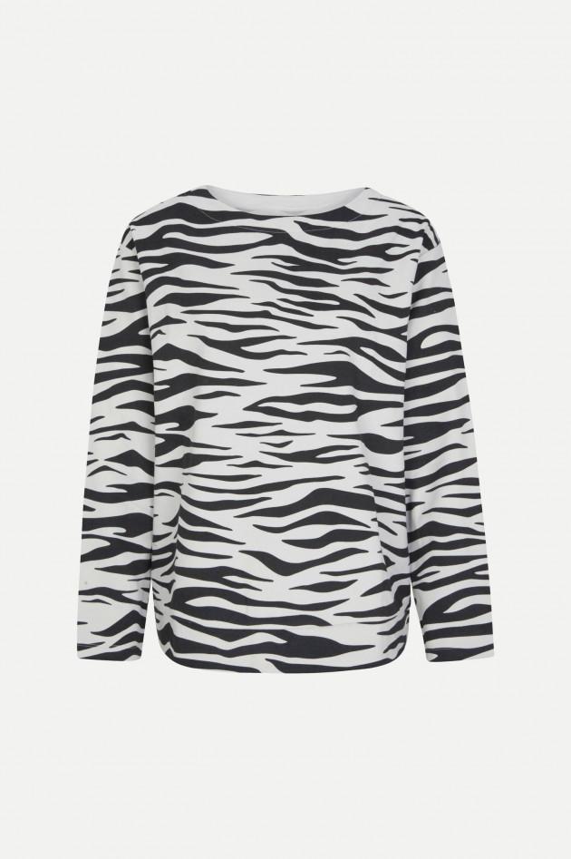 Juvia Sweater mit Animal-Print in Schwarz/Grau
