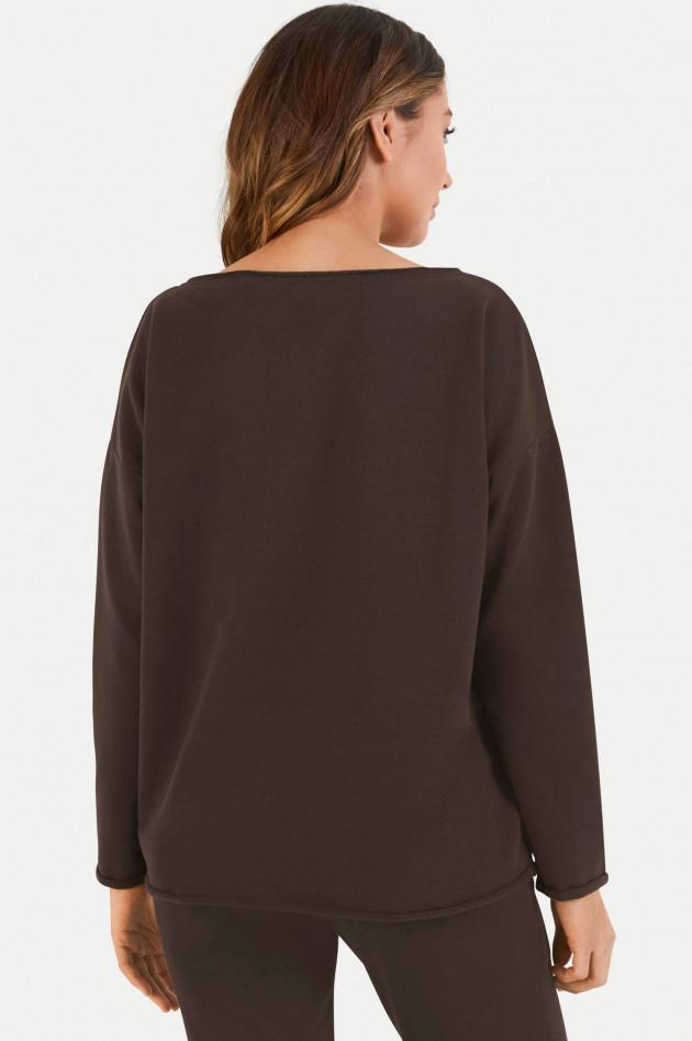 Juvia Loose Fit Sweater in Dunkelbraun