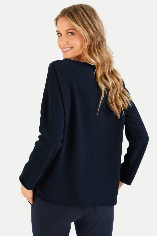 Juvia Relaxed Fit Sweater in Navy