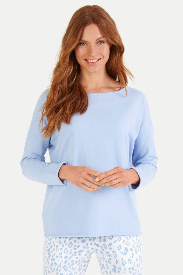 Juvia Relaxed Fit Sweater in Hellblau