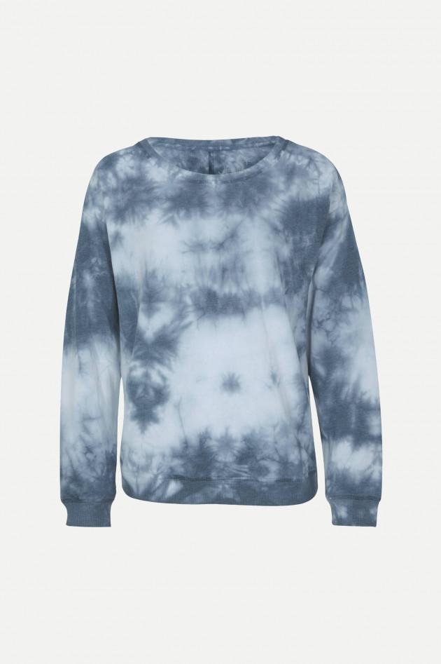 Juvia Sweatshirt im Batik-Design in Blau