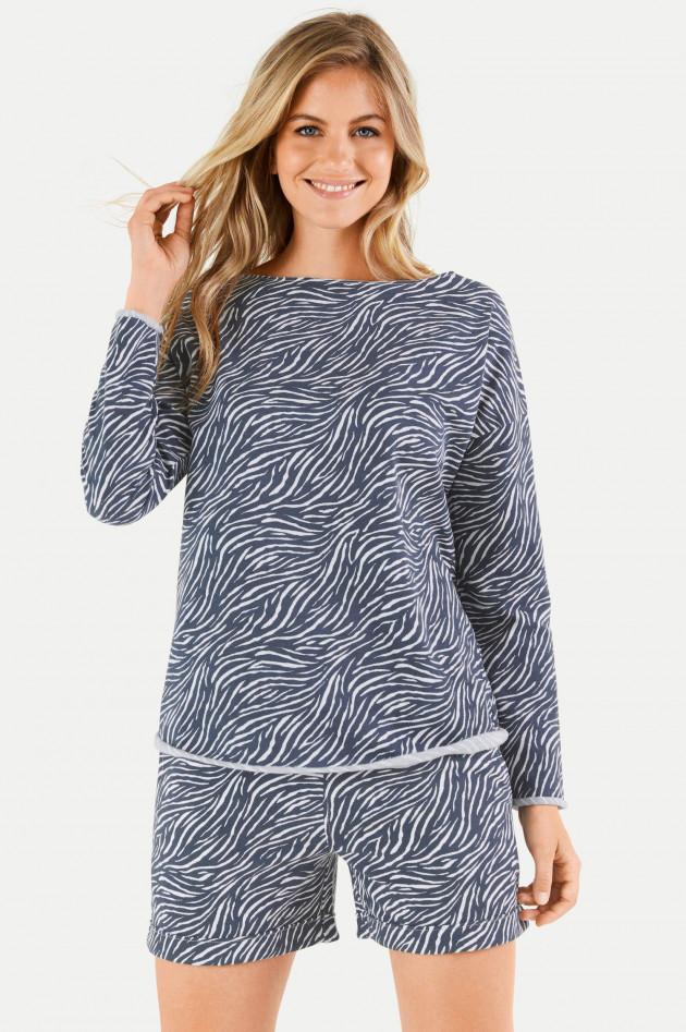 Juvia Sweater DESERT STRIPES in Blau/Weiß