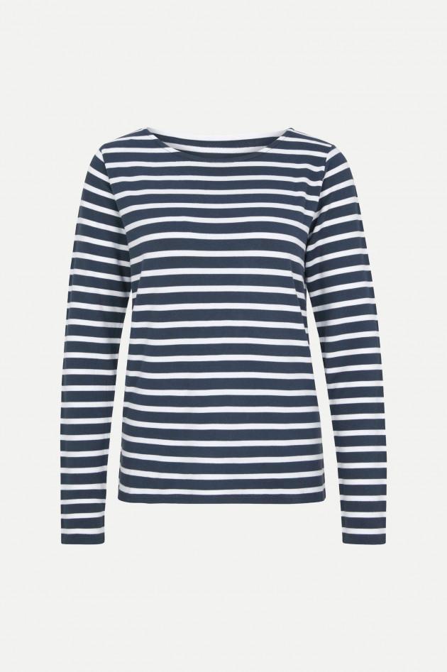Juvia Langarmshirt in Blau/Weiß gestreift
