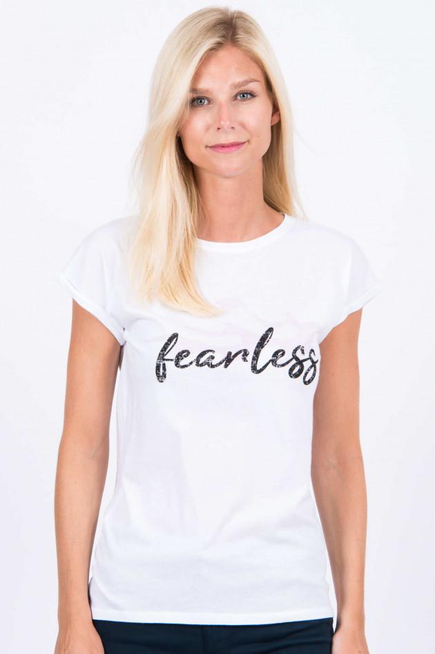 Juvia Baumwoll-Shirt FEARLESS in Weiß