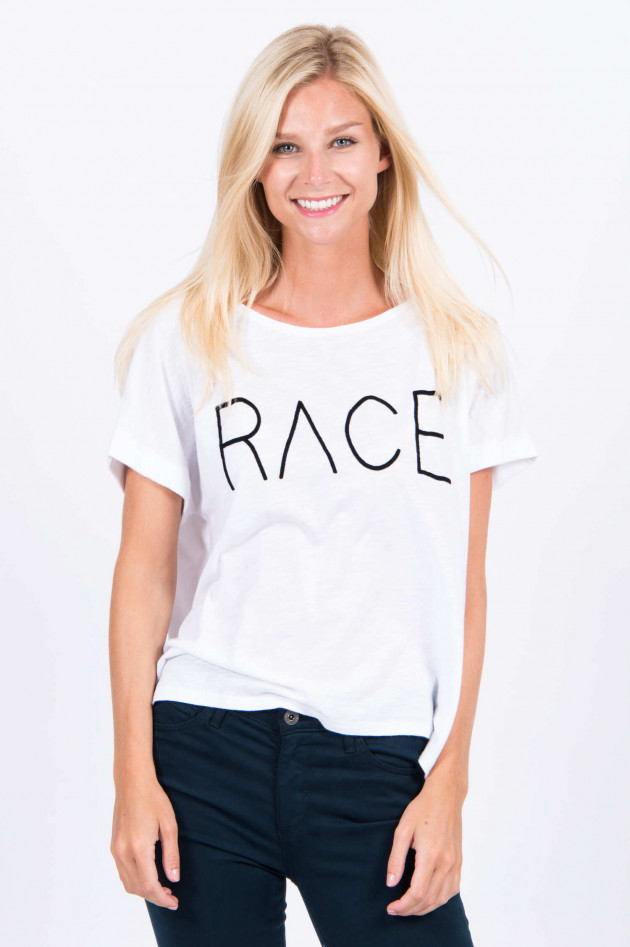 Juvia Oversized T-Shirt RACE in Weiß