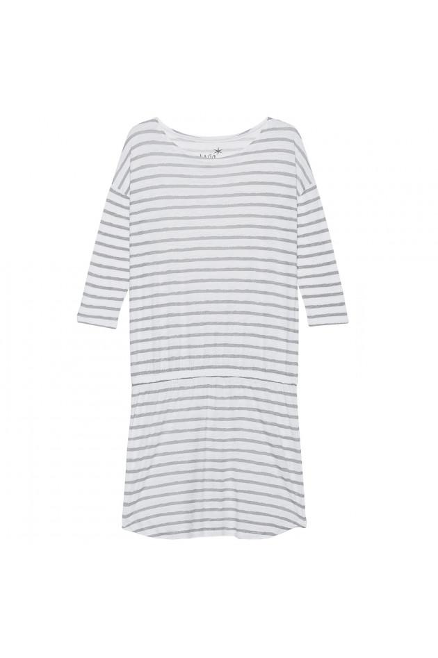 Kleid grau weiss gestreift