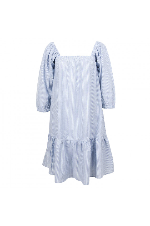 Grüner Online Shop: La Camicia Kleid in Blau/Weiß gestreift