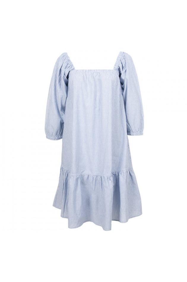gr ner online shop la camicia kleid in blau wei gestreift. Black Bedroom Furniture Sets. Home Design Ideas