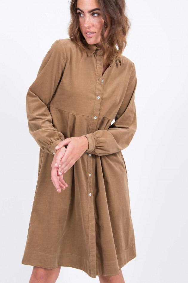 La Camicia Feincord-Kleid in Camel