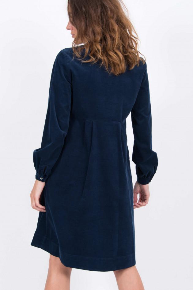 La Camicia Feincord-Kleid in Navy
