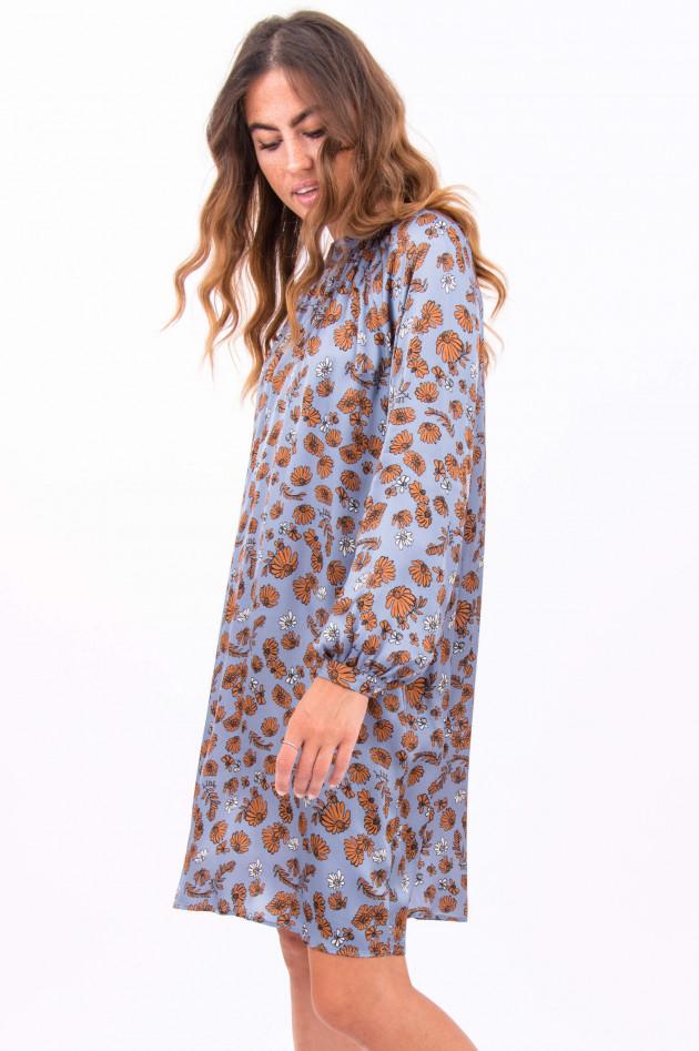 La Camicia Kleid in Rauchblau/Camel