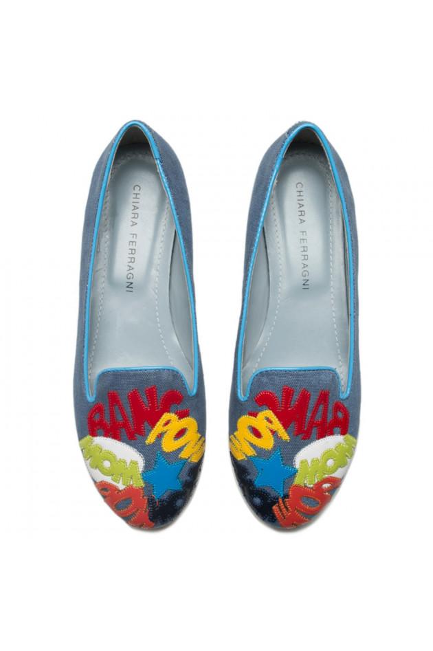 gr ner online shop chiara ferragni loafers in blau bunt. Black Bedroom Furniture Sets. Home Design Ideas