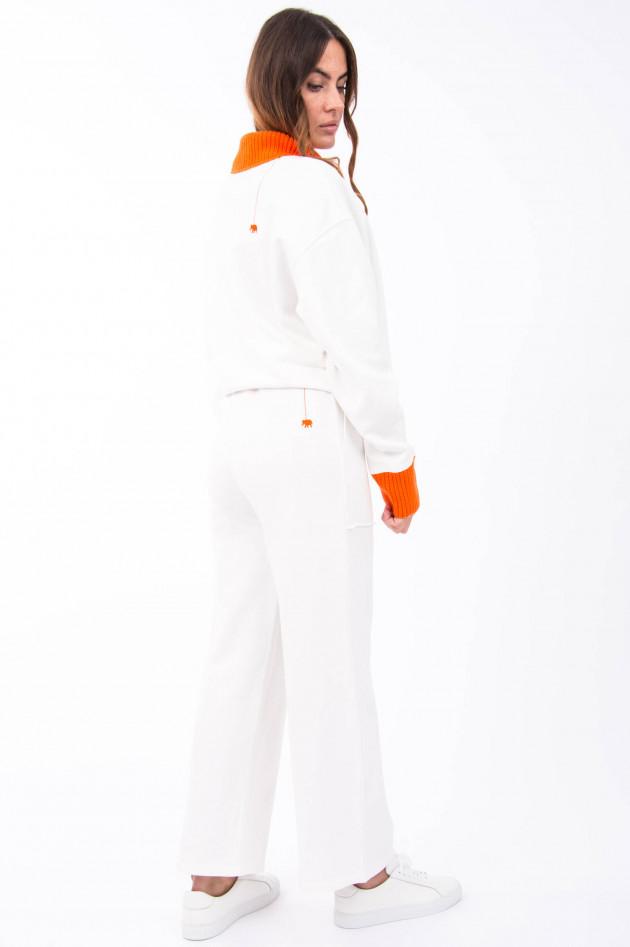 Love Joy Victory Jogging-Hose in Weiß/Orange