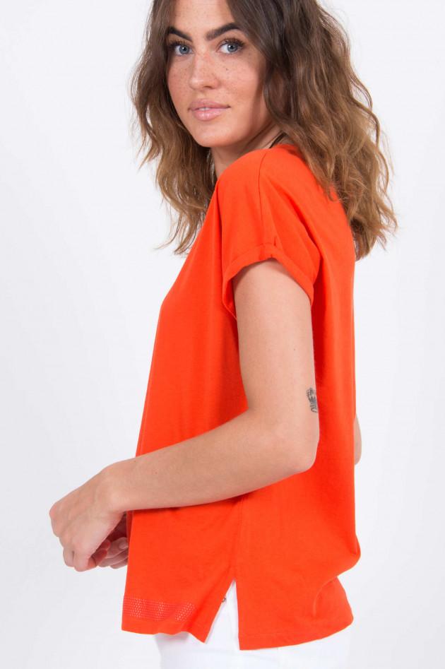 Love Joy Victory Basic T-Shirt in Orange