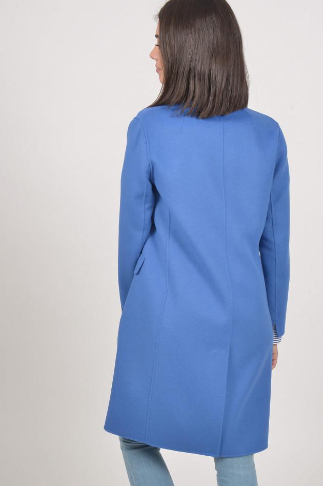 gr ner online shop max mara mantel in blau. Black Bedroom Furniture Sets. Home Design Ideas