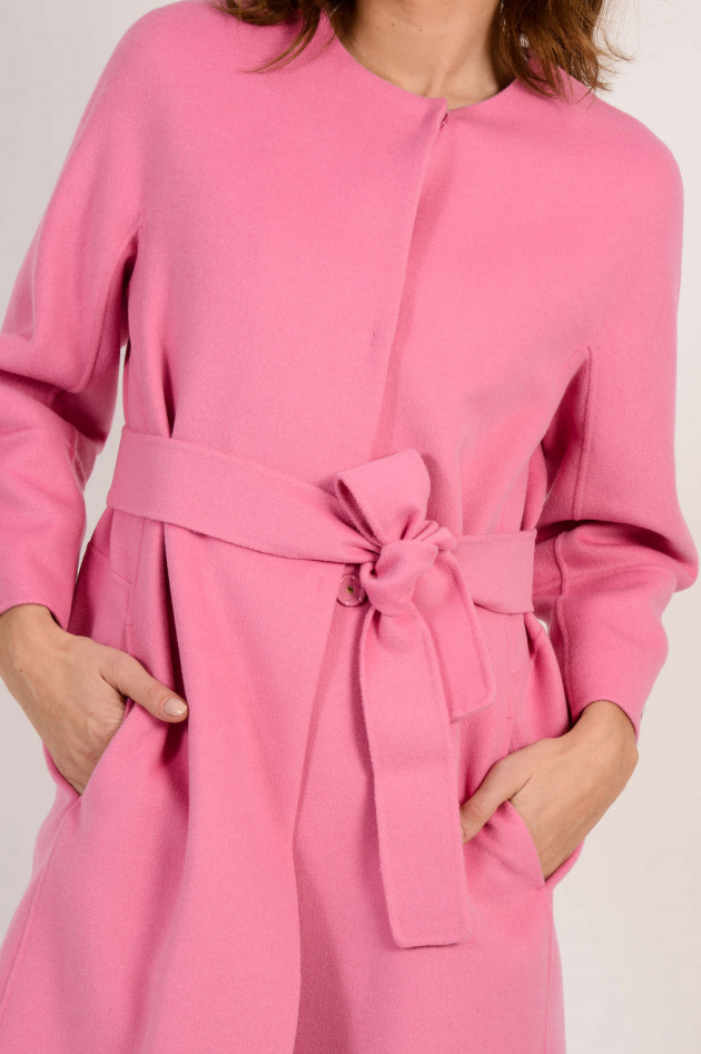 Max Mara Mantel aus Wolle in Rosa